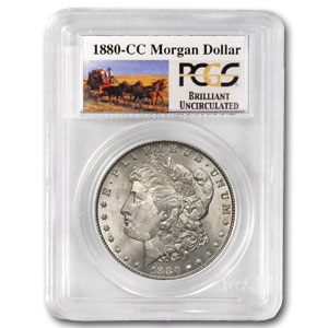 1880-CC Brilliant Uncirculated PCGS Stage Coach Silver Dollars