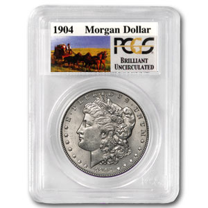 1904 Brilliant Uncirculated PCGS Stage Coach Silver Dollars