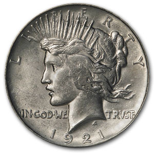 1921 Stage Coach Peace Dollar PCGS (High Relief)