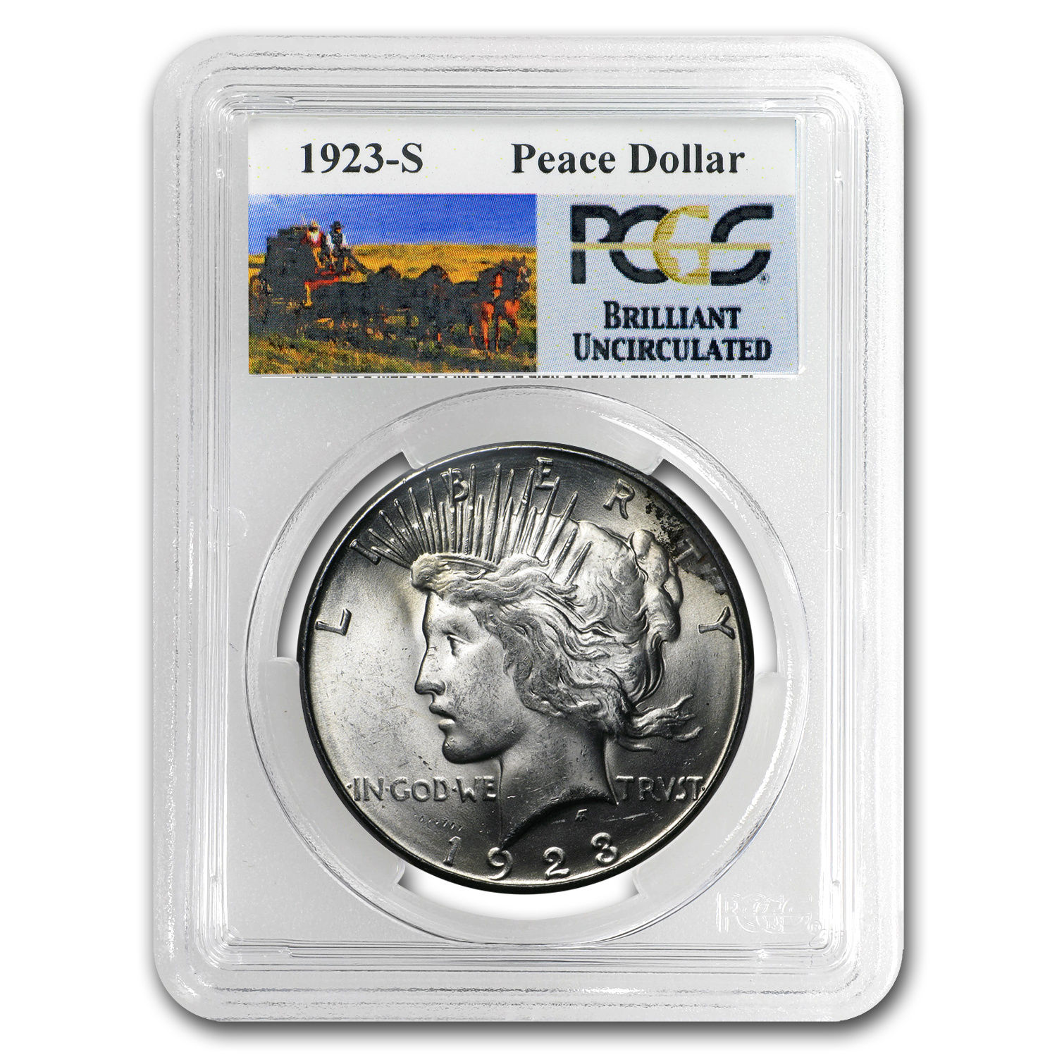 1923-S Brilliant Uncirculated PCGS Stage Coach Silver Dollars