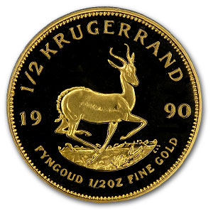 1990 South Africa 1/2 oz Proof Gold Krugerrand