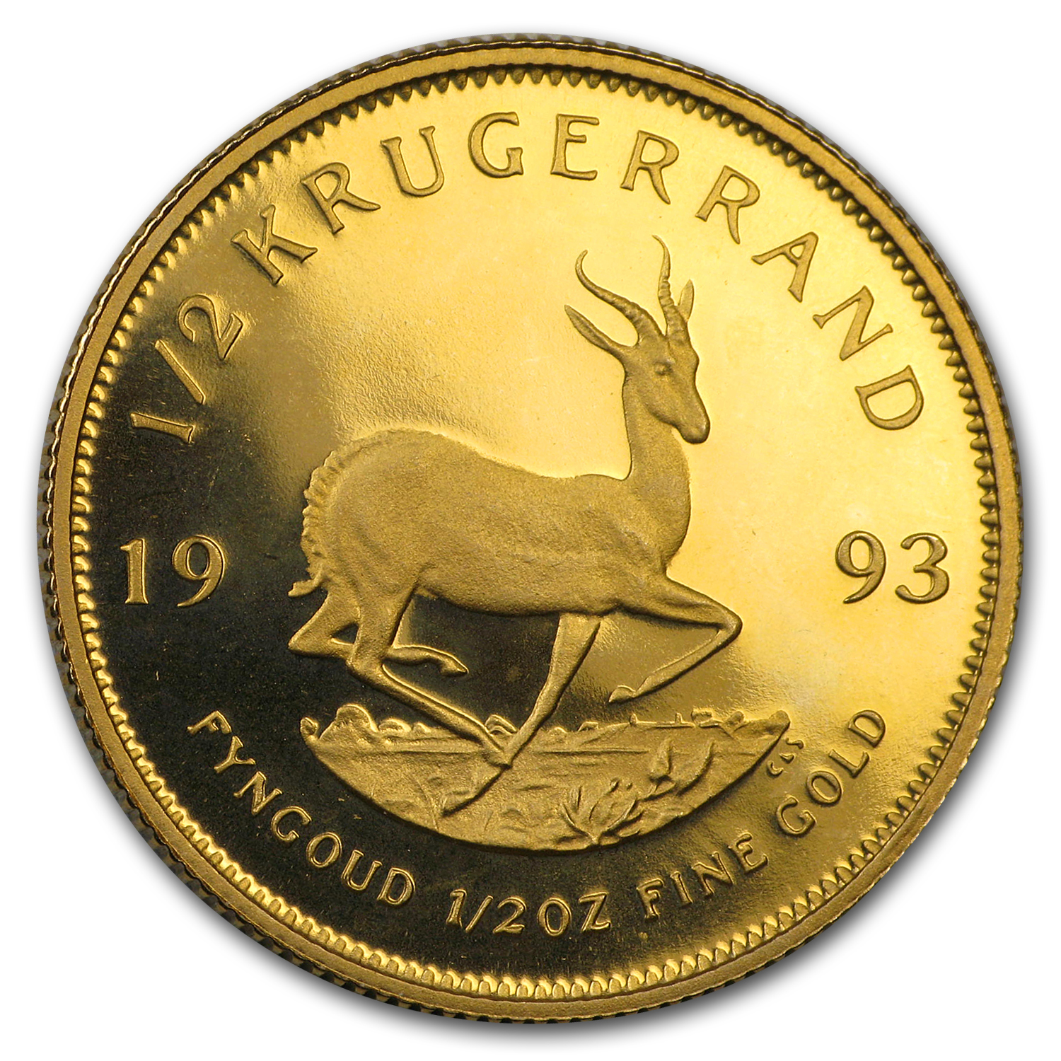1993 South Africa 1/2 oz Proof Gold Krugerrand