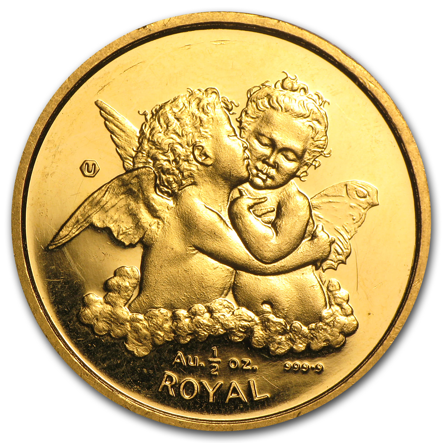 Gibraltar 1/2 Royal Gold Cherubs (Abrasions)