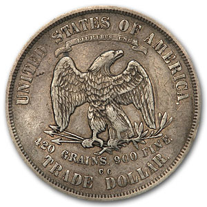 1875-CC Trade Dollar Extra Fine