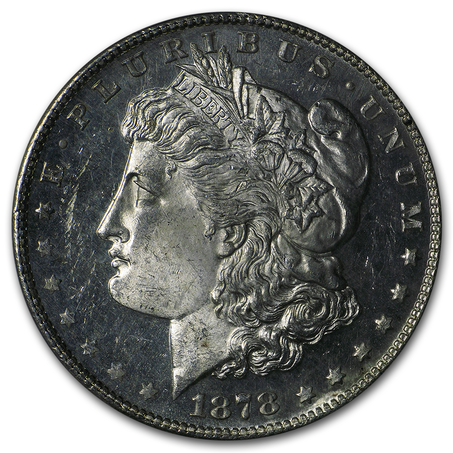 1878-S Morgan Dollar - MS-63 PL Proof Like PCGS