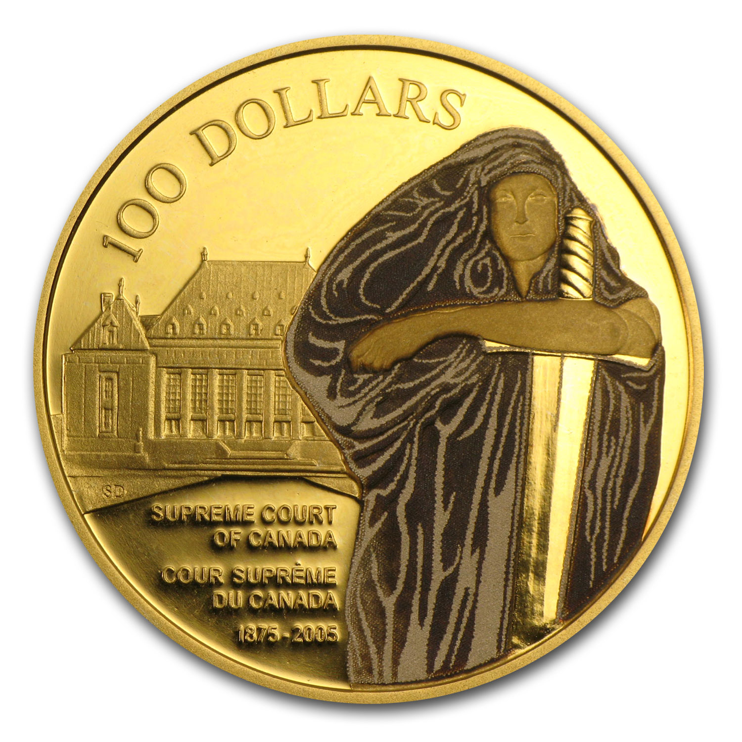 2005 Canada Proof Gold $100 Supreme Court