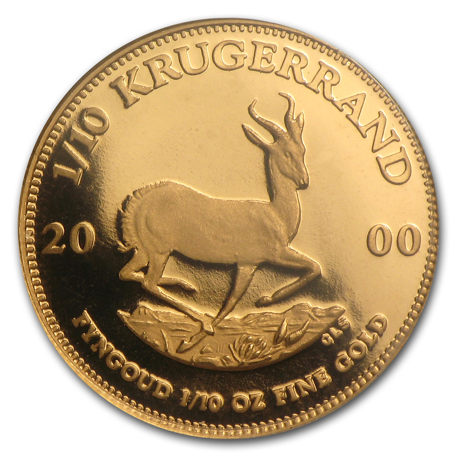 2000 1/10 oz Gold South African Krugerrand (Proof)