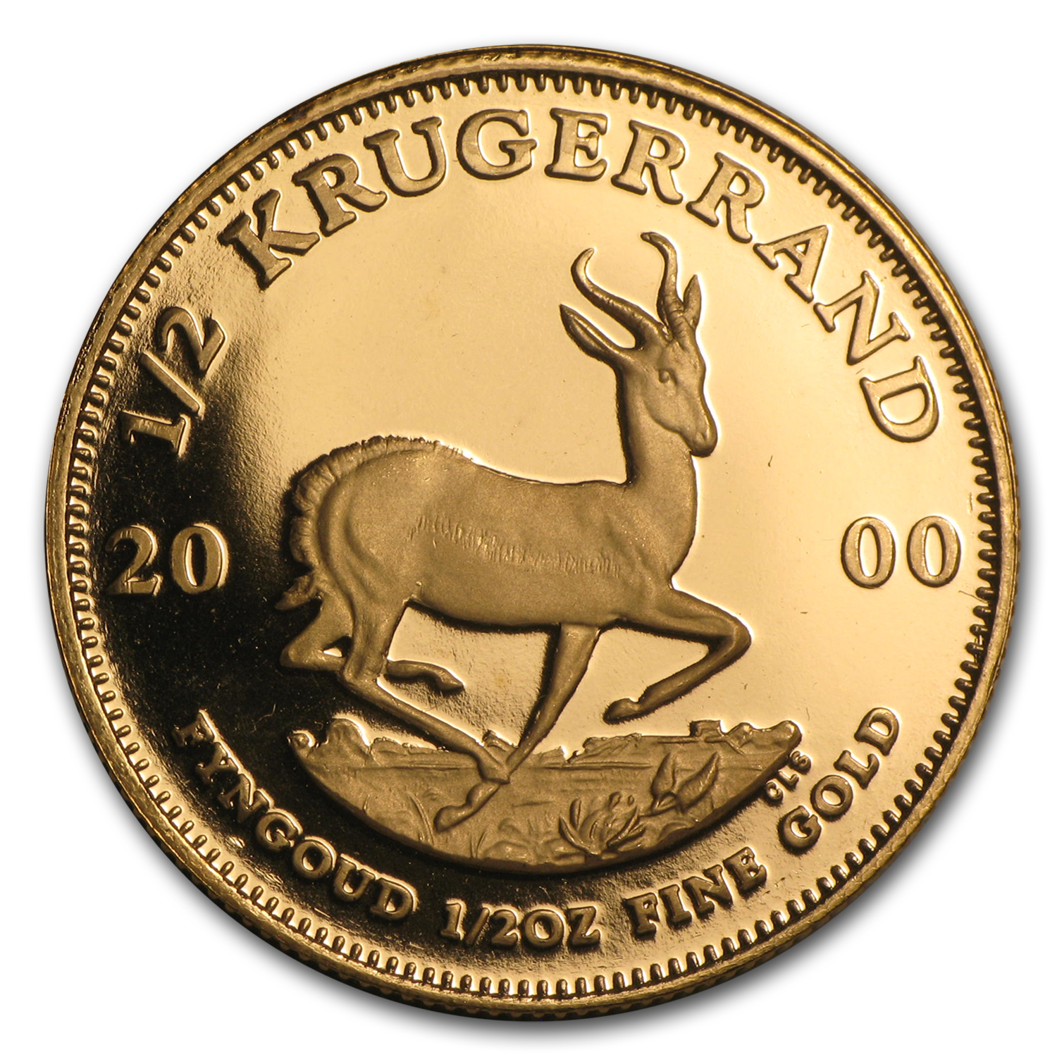 2000 South Africa 1/2 oz Proof Gold Krugerrand
