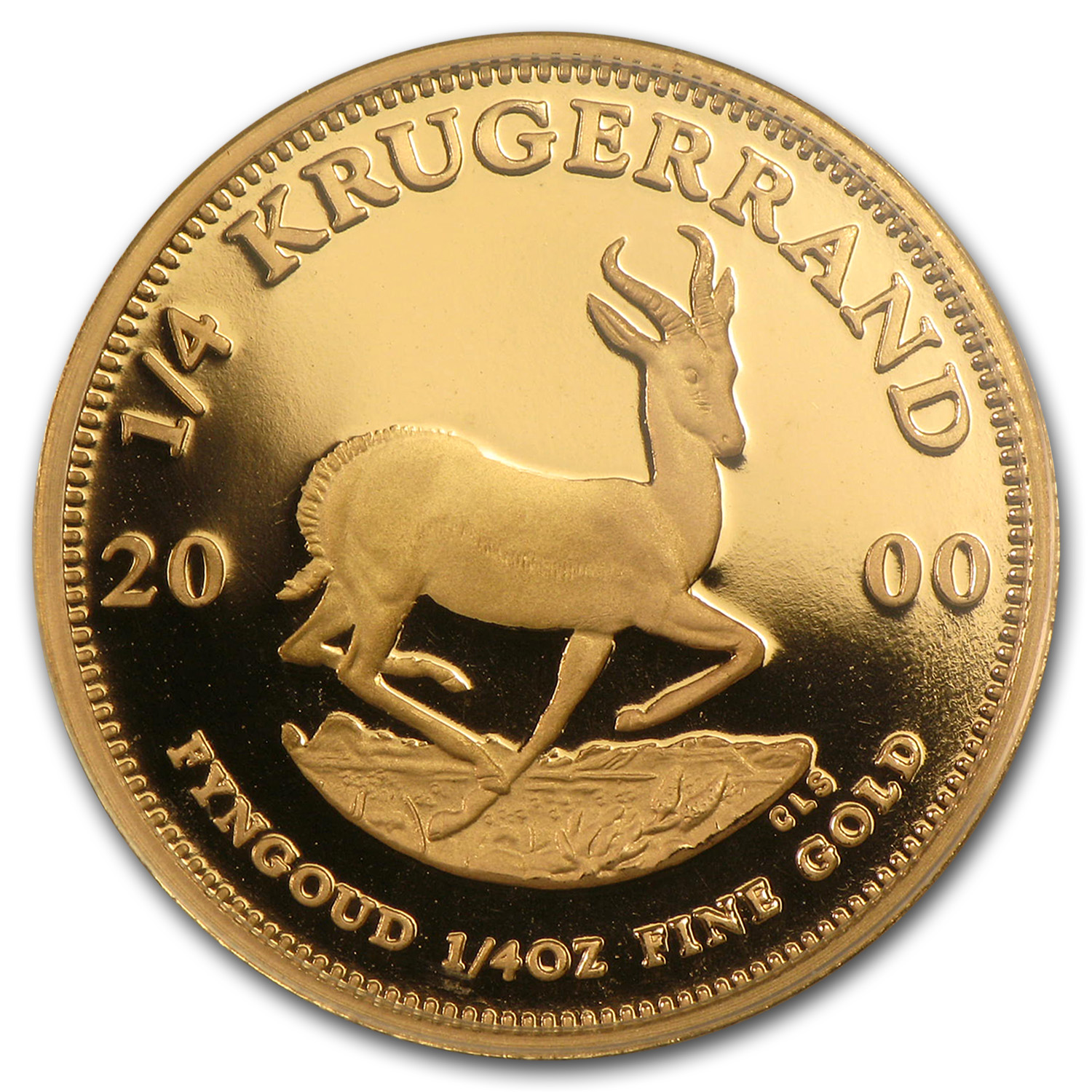 2000 South Africa 1/4 oz Proof Gold Krugerrand