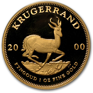 2000 1 oz Gold South African Krugerrand (Proof)