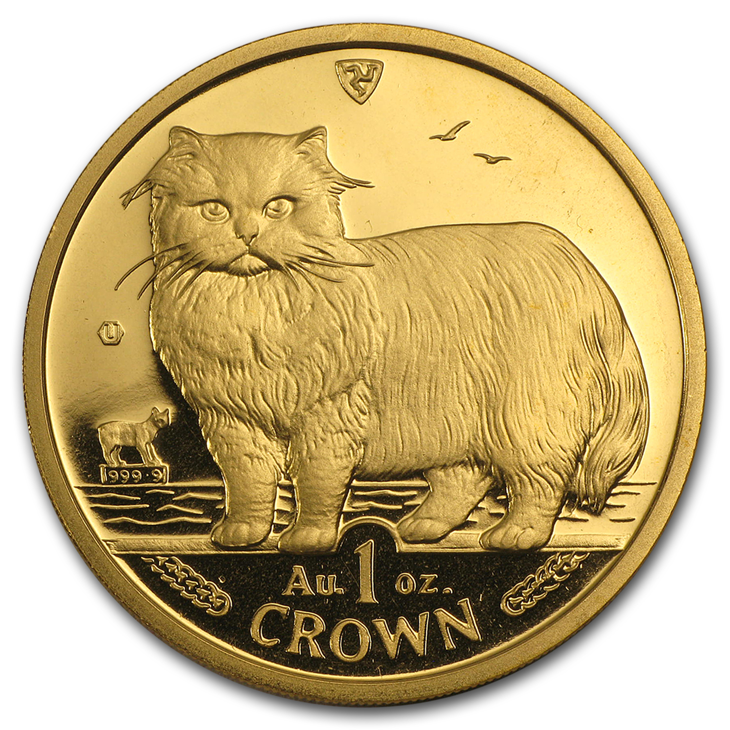 Isle of Man 1 oz Gold Crown Cat BU/Proof