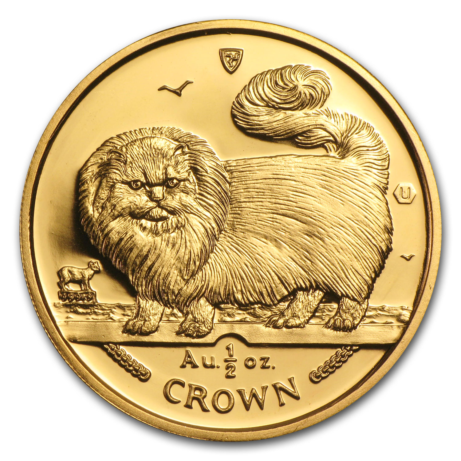 Isle of Man 1/2 oz Gold Cat Crown BU/Proof (Random)