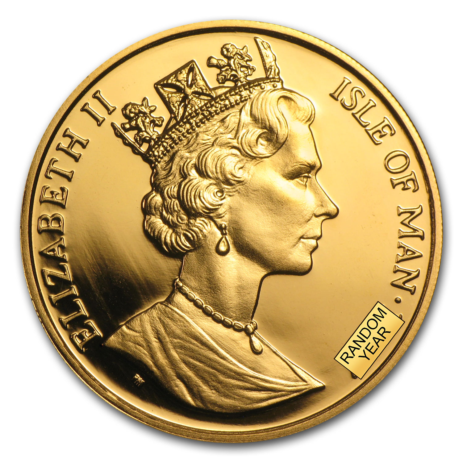 Isle of Man 1/2 oz Gold Cat Crown BU/Proof