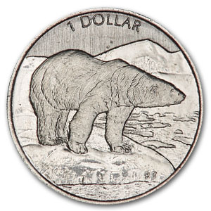 1999 1/20 oz Canadian Platinum Polar Bear