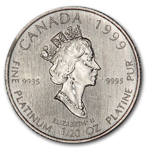 1999 1/20 oz Platinum Canadian Polar Bear