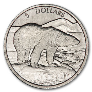 1999 1/10 oz Platinum Canadian Polar Bear
