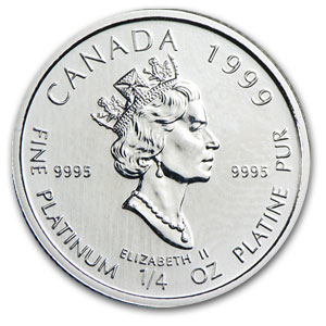 1999 1/4 oz Canadian Platinum Polar Bear