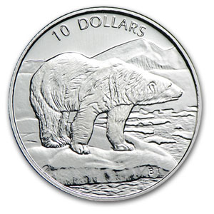 1999 1/4 oz Platinum Canadian Polar Bear