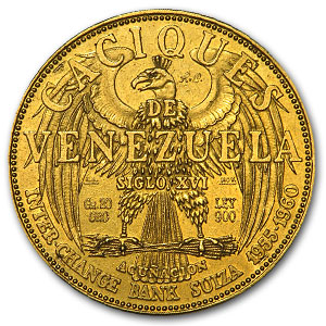 Venezuela 20 Gramos Gold De Oro Puro Decapitated Design