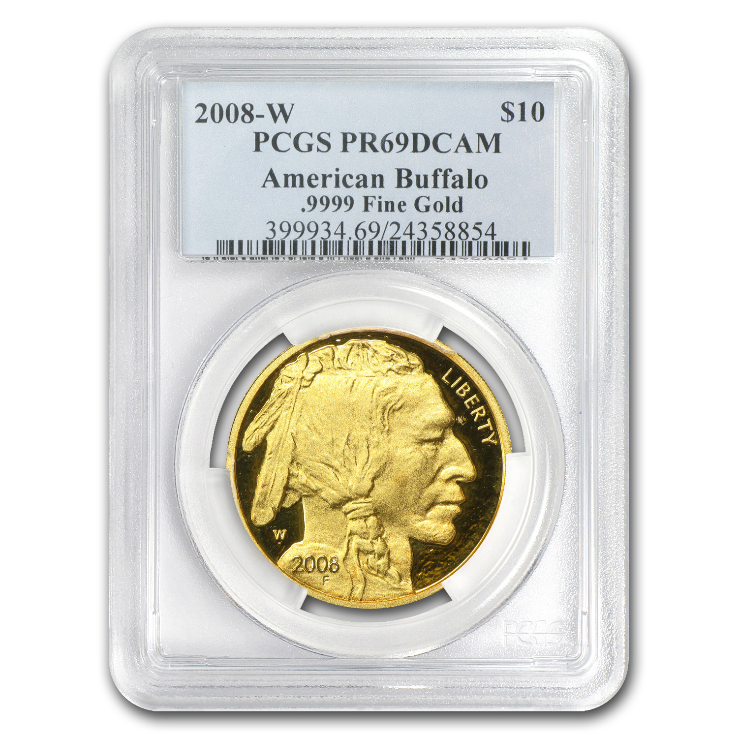 2008-W 1/4 oz Proof Gold Buffalo PR-69 PCGS