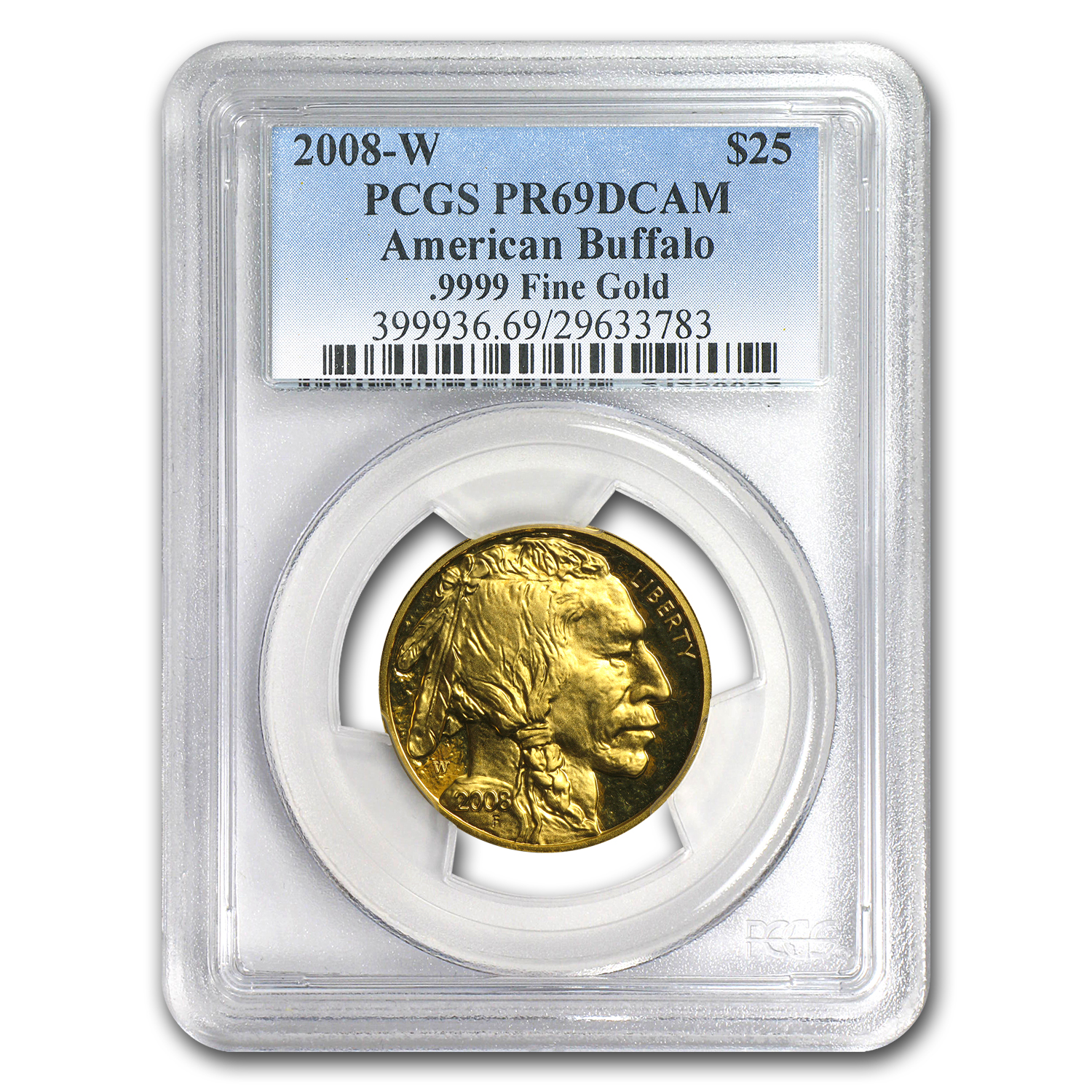 2008-W 1/2 oz Proof Gold Buffalo PR-69 PCGS