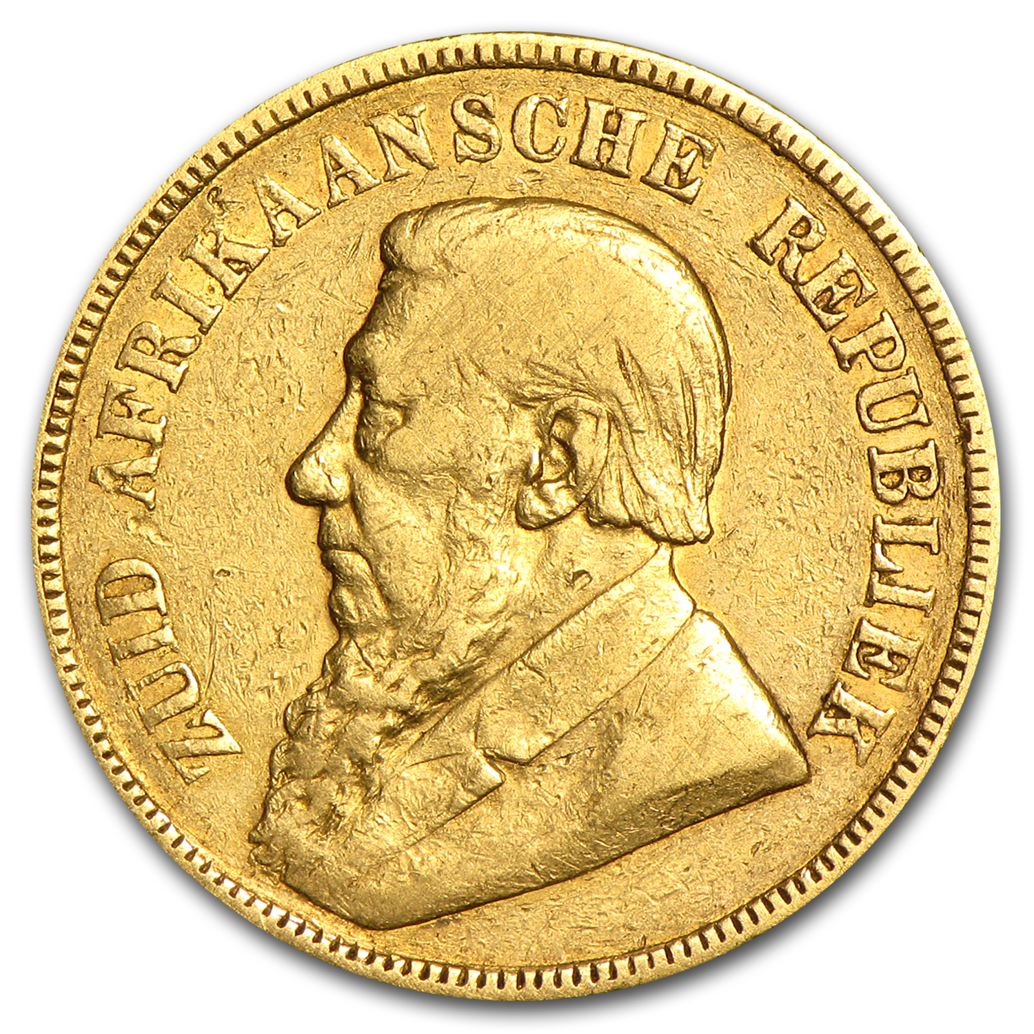 1892-1900 South Africa Gold 1 Pond Average Cir