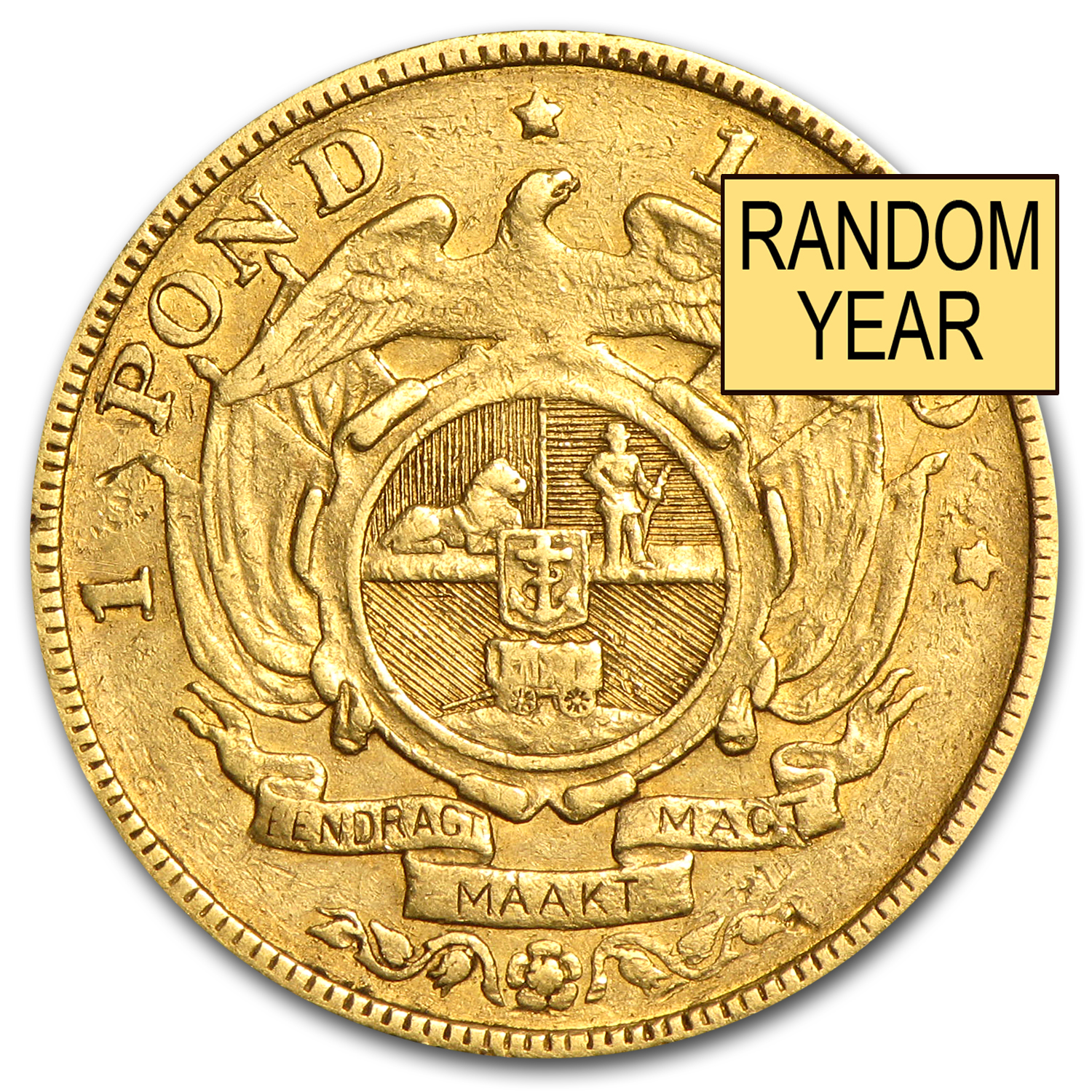 South African Gold 1 Ponds (Average Circulated)