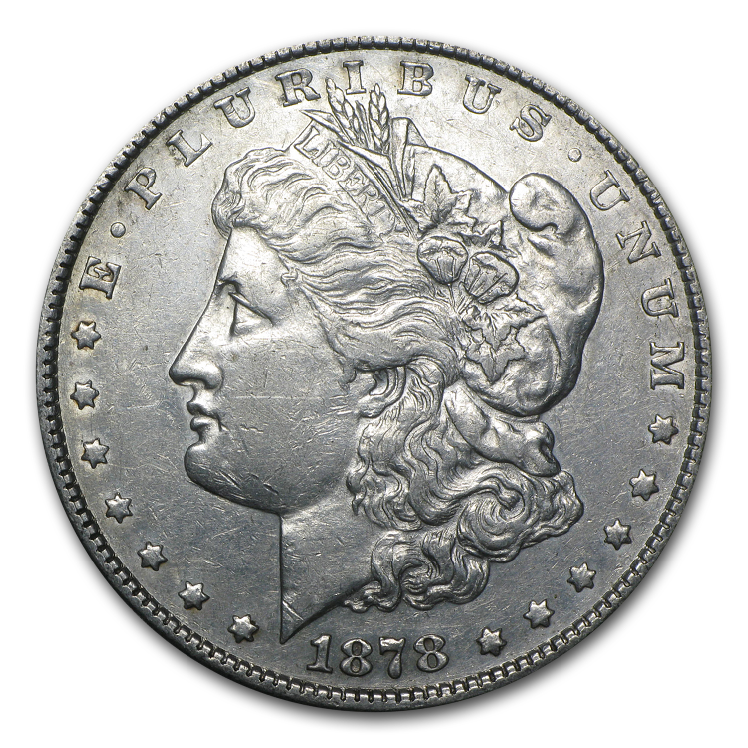 1878 Morgan Dollar 8 Tailfeathers XF