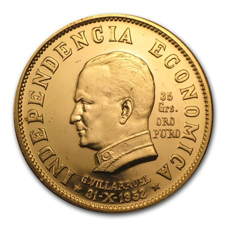 Bolivia 35 Grams Oro Puro Agw Gold Coins From