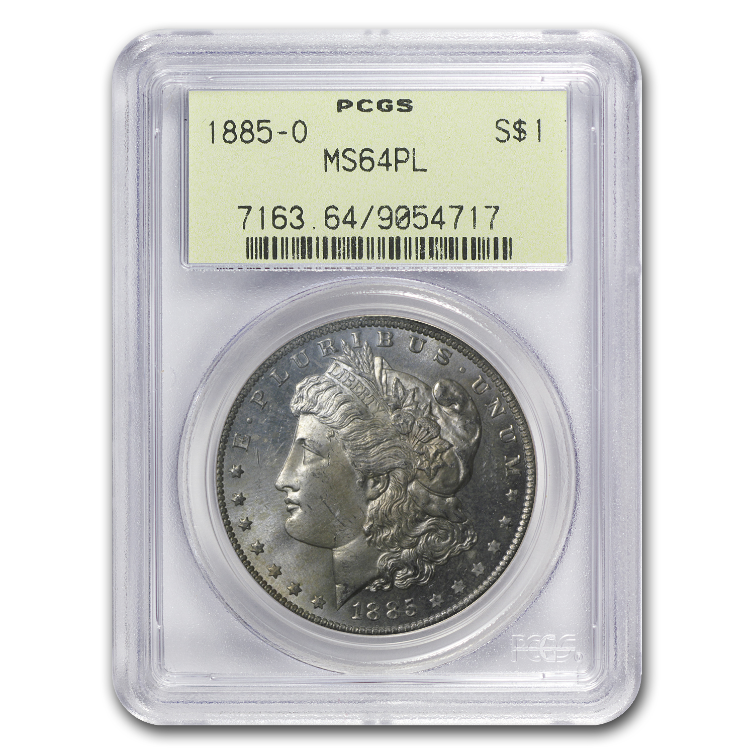 1885-O Morgan Dollar MS-64 PL Proof Like PCGS