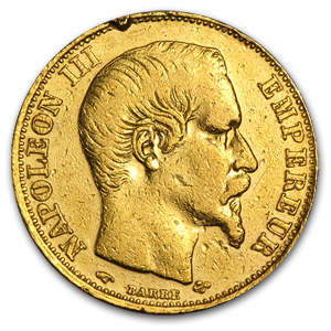1852-1869 France Gold 20 Francs Napoleon III (Off Quality)
