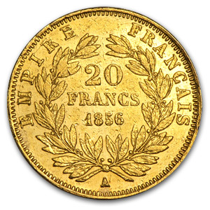 France Gold 20 Francs (Napoleon III) (Off Quality)
