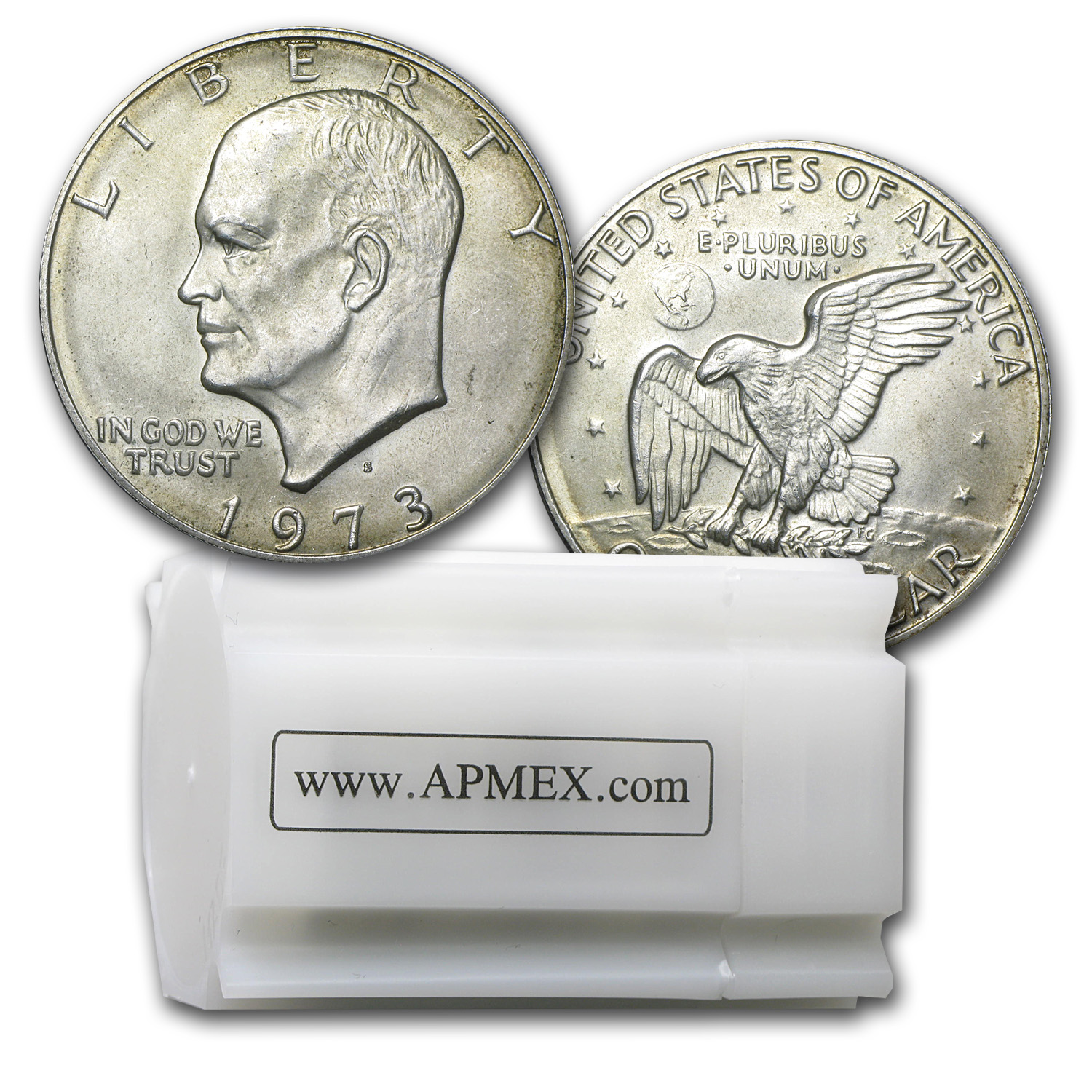 $20 Face Value Eisenhower 40% Silver Dollars - Abrasions (roll)
