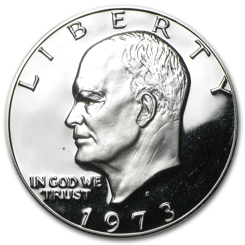 1973 S 40 Silver Eisenhower Dollar Gem Proof Eisenhower