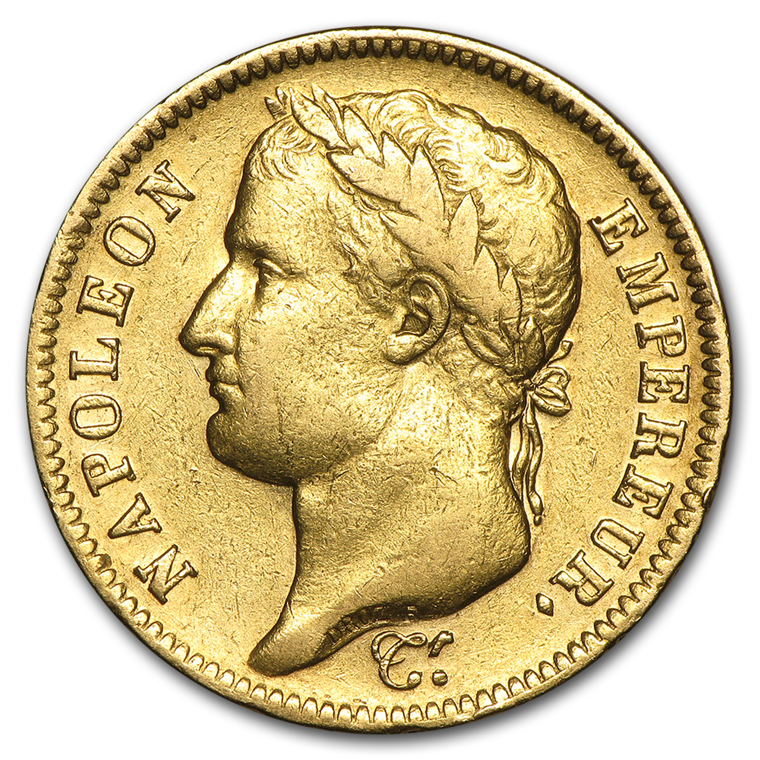 1809-1813 France Gold 40 Francs Napoleon I Avg Circ