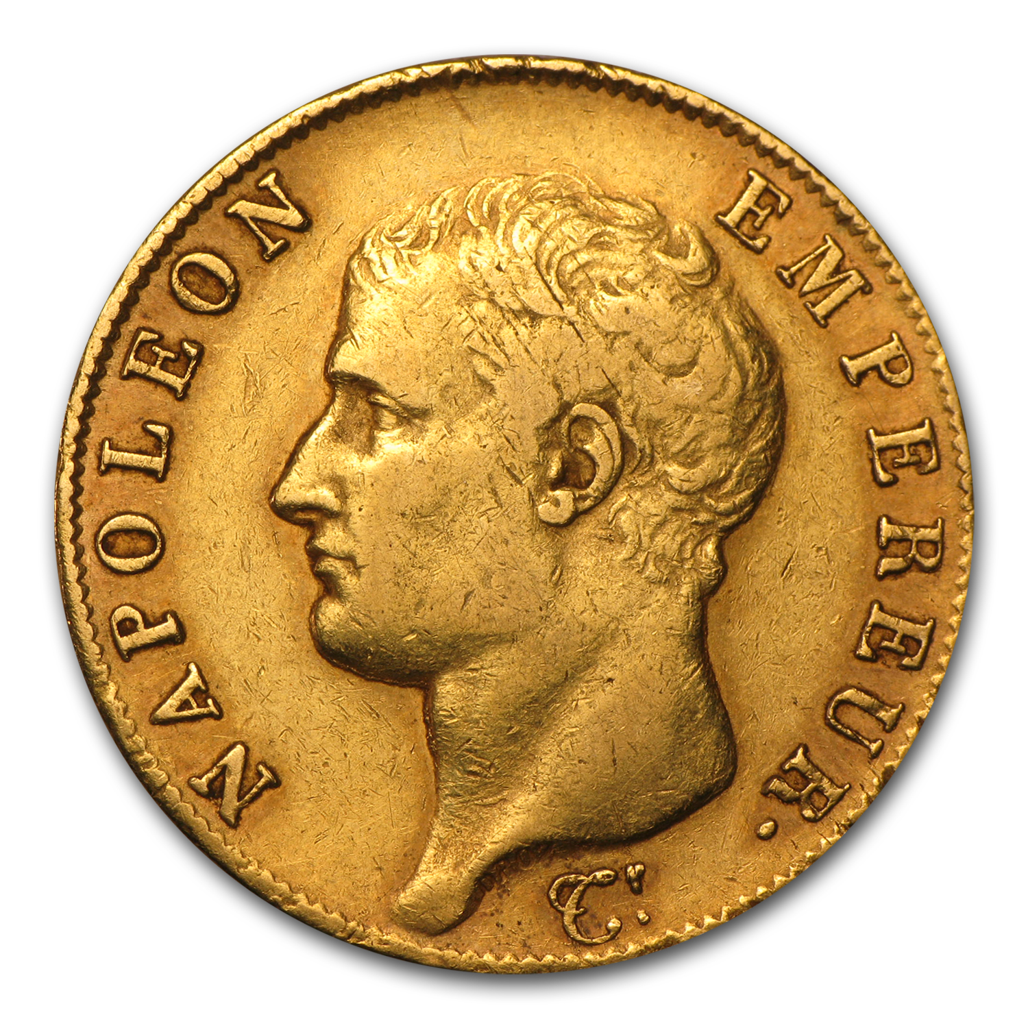 France 1807-1813 Gold 40 Franc of Napoleon I (Circulated)