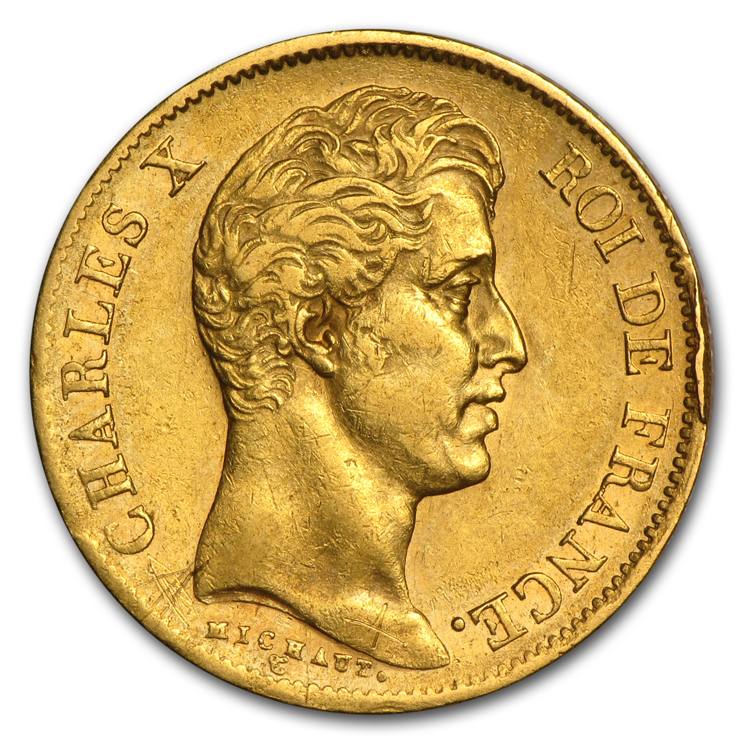 1824-1830 France Gold 40 Francs Charles X Avg Circ