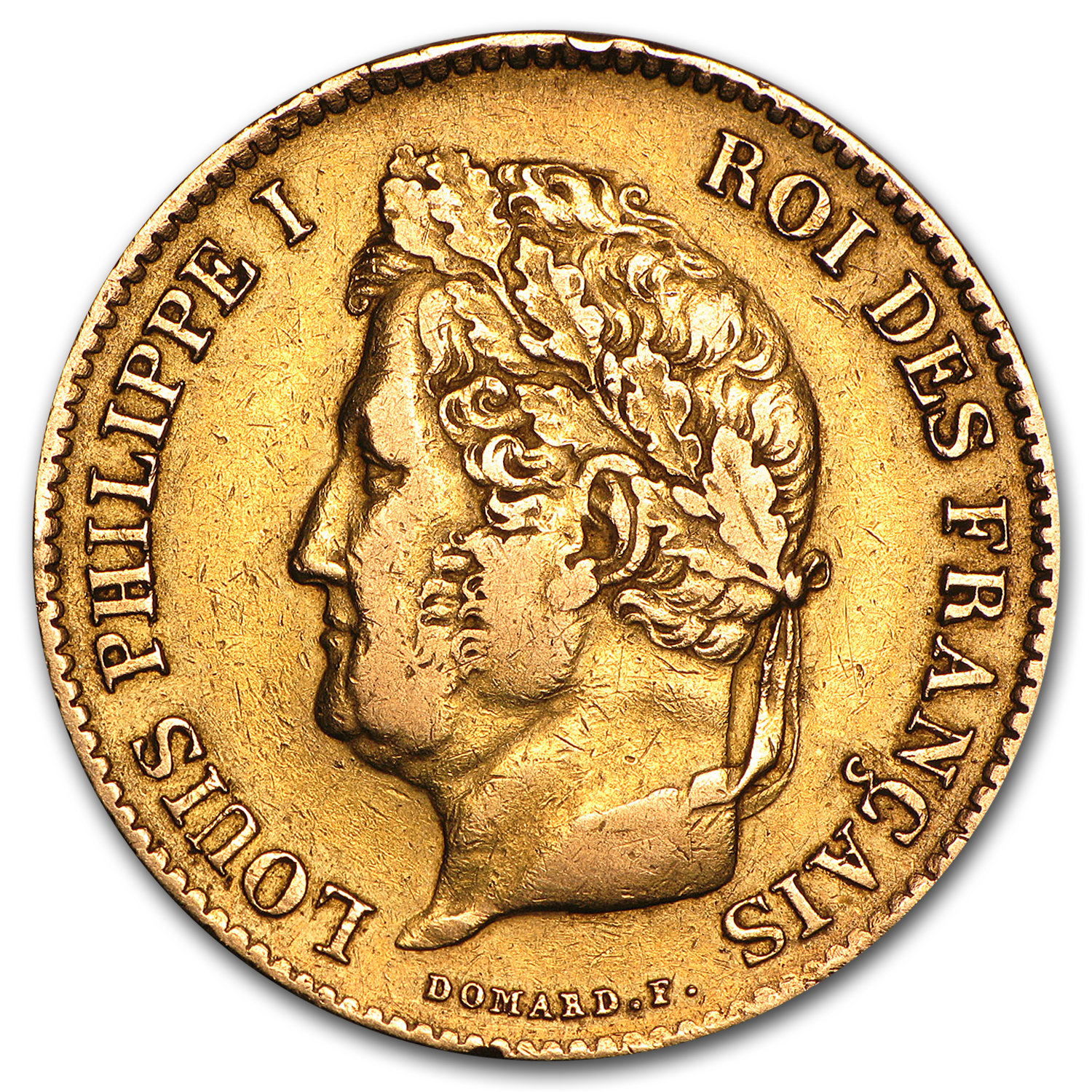 1831-1839 France Gold 40 Francs Louis Philippe I Avg Circ
