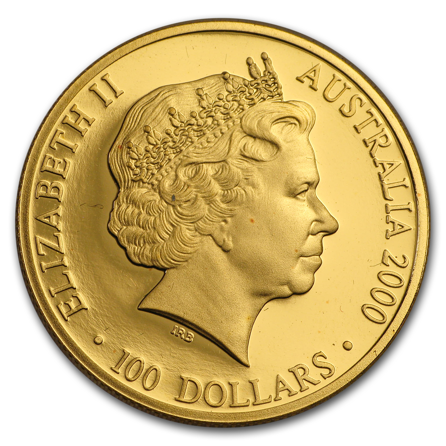 2000 Australia Proof Gold $100 (Colorized)