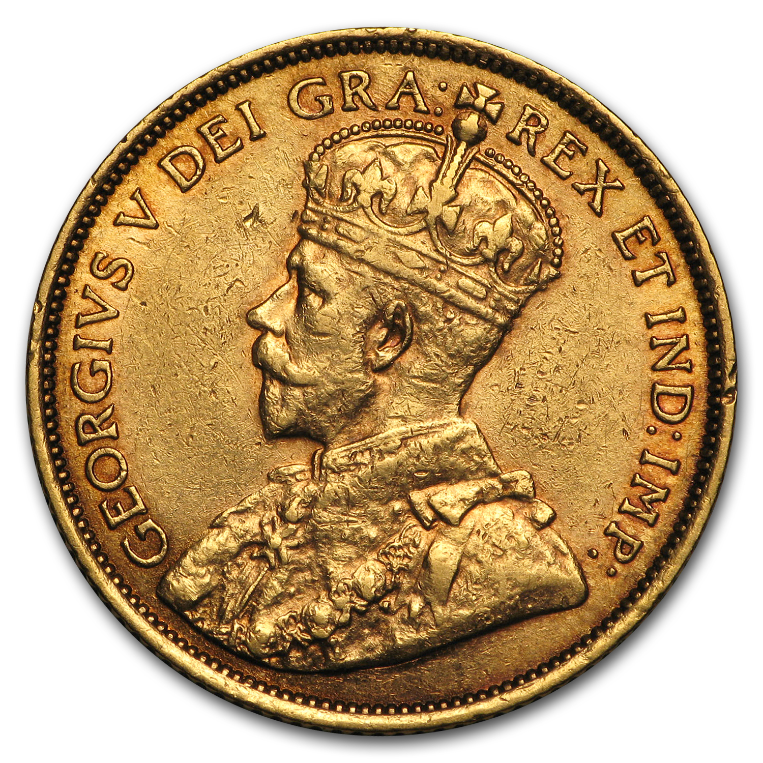 1912-1914 Canada 5 Dollars Gold Coin (Extra Fine or Better)