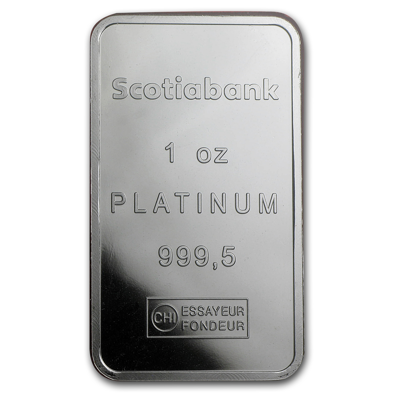 1 oz Platinum Bar - Scotiabank (.999+ Fine, In Assay)