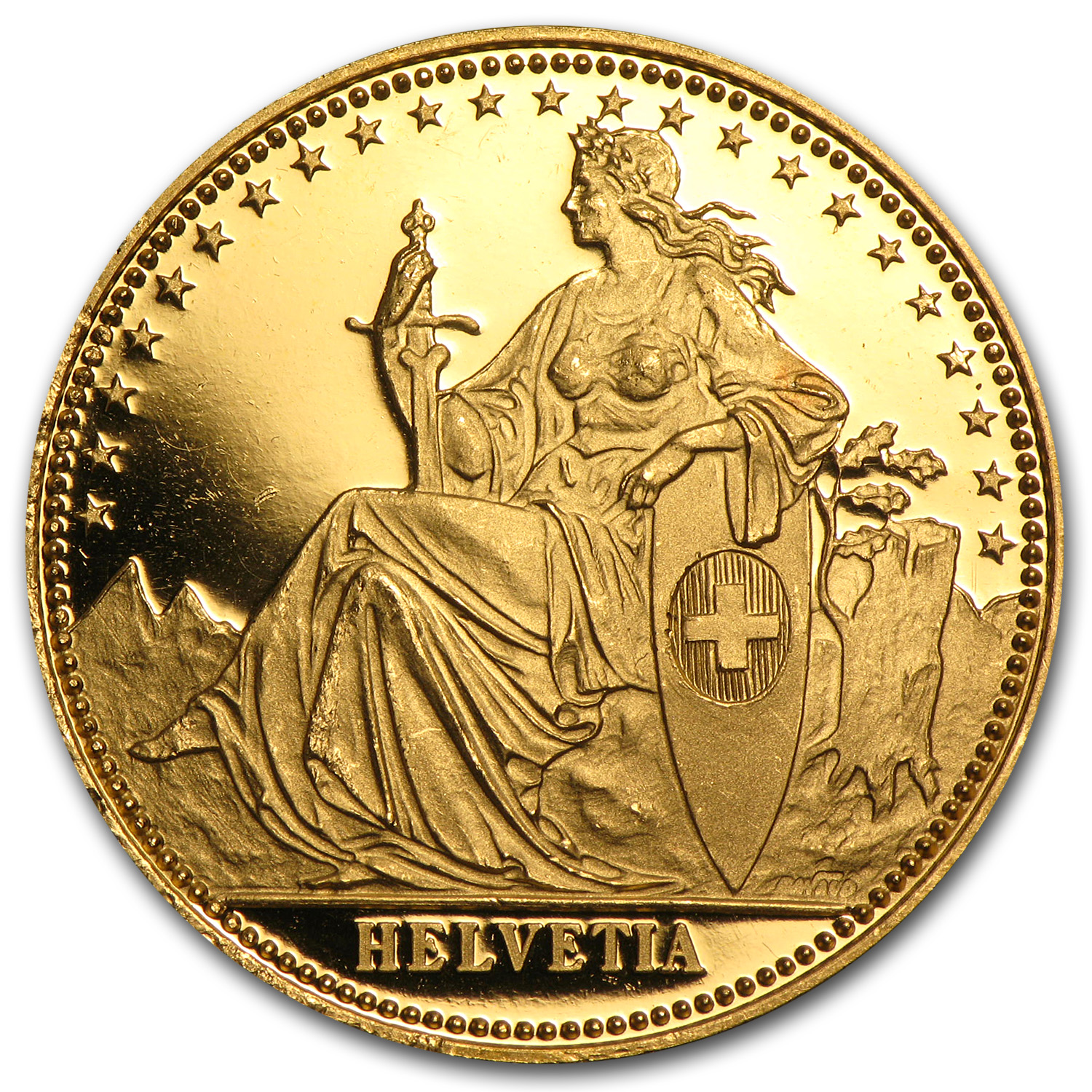 1986 Switzerland 1/2 Unze Gold Eternal Pact Proof