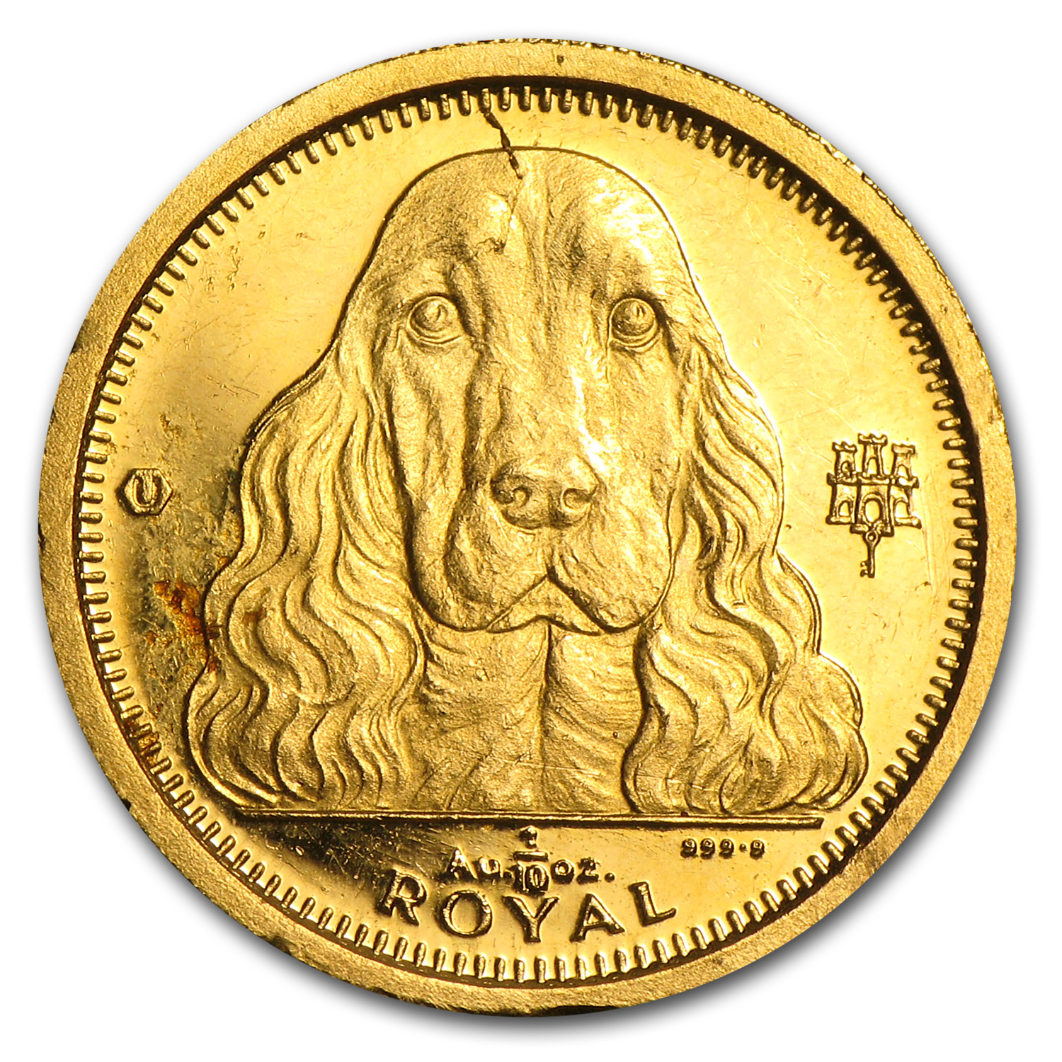 Gibraltar 1/10 oz Gold Royal Dogs (Off quality)