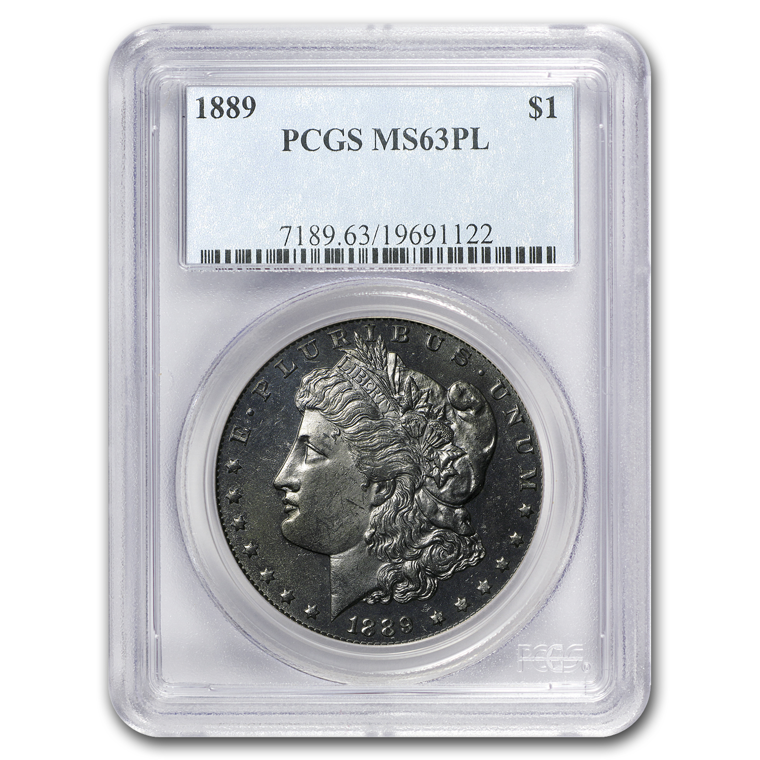 1889 Morgan Dollar MS-63 PL Proof Like PCGS