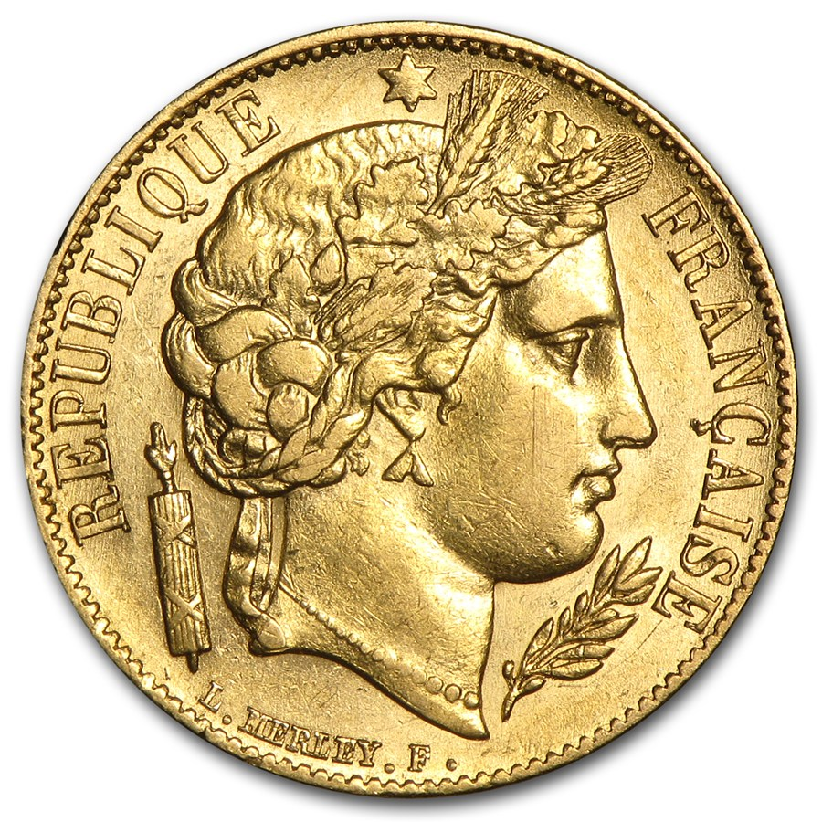 1850 1851 france gold 20 francs early head ceres au 20 for France francs