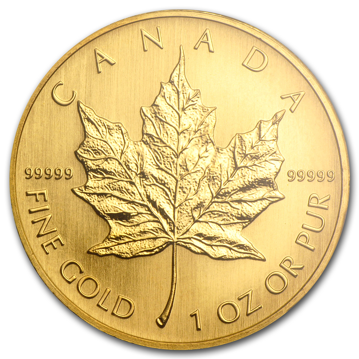 2005 1 oz Gold Canadian Maple Leaf .99999 BU (w/Box & COA)
