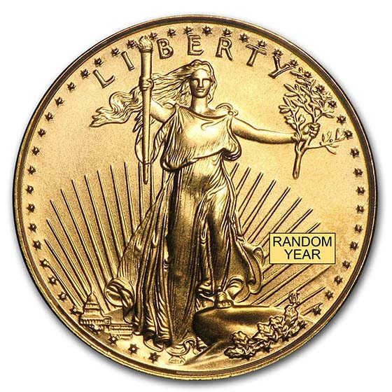 1/10 oz Gold American Eagle (Random Year) (BU)