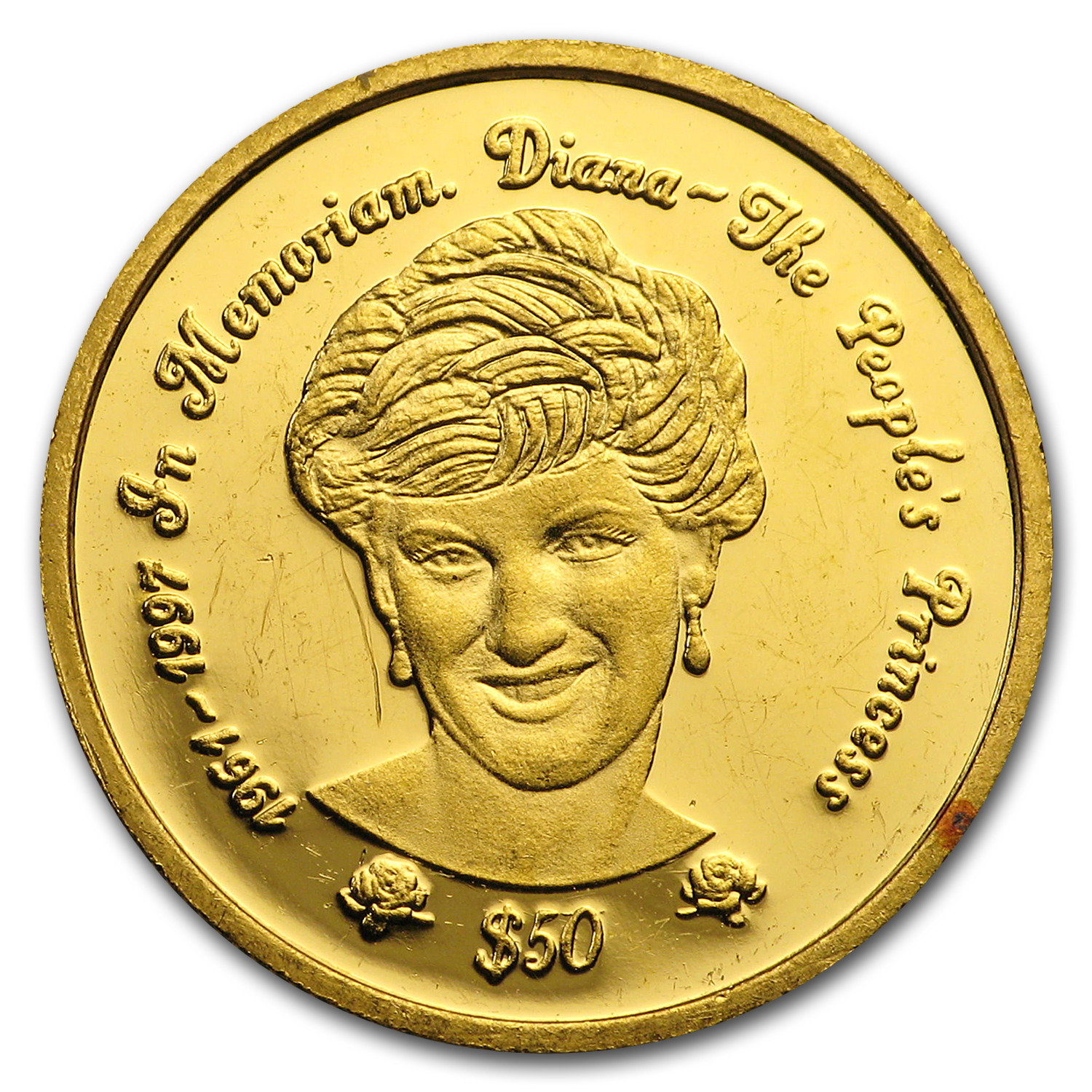 1997 Sierra Leone Gold $50 Diana Proof