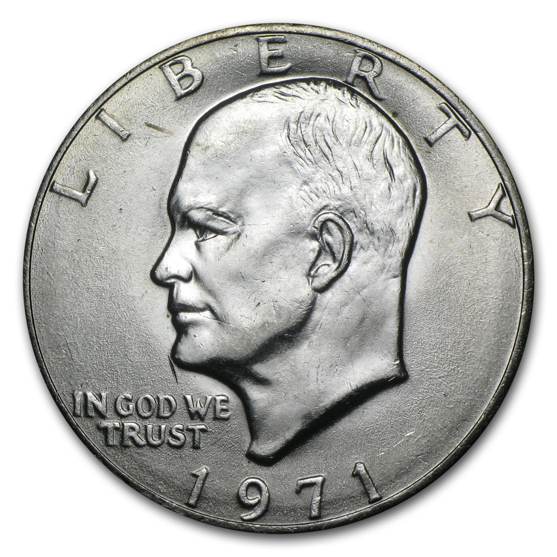 1971 Clad Eisenhower Dollar Bu Eisenhower Dollars 1971