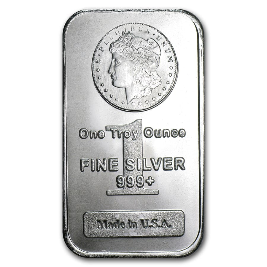 1 oz Silver Bar - Morgan Design